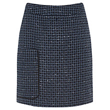 Buy Warehouse Lupita Tweed Pelmet Skirt, Navy Online at johnlewis.com