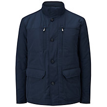 Buy BOSS Green C-Coster Quilted Jacket, Navy Online at johnlewis.com