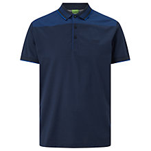 Buy BOSS Green Pavel Cotton Polo Shirt, Navy Online at johnlewis.com