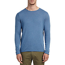 Buy BOSS Orange Kwamero Sweatshirt, Open Blue Online at johnlewis.com