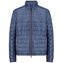 Buy BOSS Green Jeon Quilted Jacket, Open Blue Online at johnlewis.com