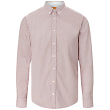 Buy BOSS Orange Edipoe Long Sleeve Geo Print Shirt, Medium Red Online at johnlewis.com