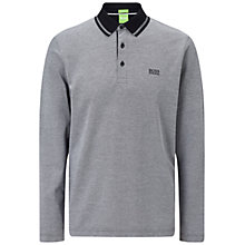 Buy BOSS Green C-Prato Long Sleeve Polo Shirt, Grey Online at johnlewis.com