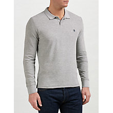 Buy Original Penguin Raised Rib Long Sleeve Polo Shirt Online at johnlewis.com