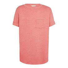 Buy John Lewis Childrens Long Waffle T-Shirt, Pink Online at johnlewis.com