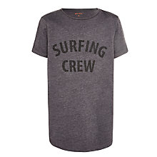 Buy John Lewis Childrens' Surfing Crew T-Shirt, Grey Online at johnlewis.com