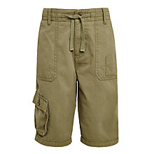 Buy John Lewis Childrens' Cargo Shorts, Green Online at johnlewis.com