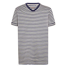 Buy John Lewis Childrens' Stripe T-Shirt, Grey/Navy Online at johnlewis.com