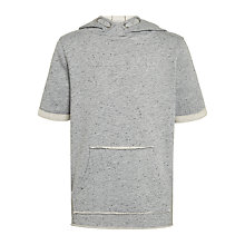 Buy John Lewis Childrens' Short Sleeve Hoodie, Grey Online at johnlewis.com