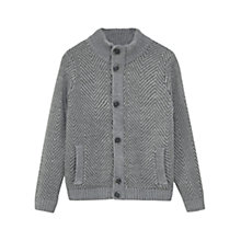 Buy Mango Kids Boys' Mario Jacquard Cardigan, Grey Online at johnlewis.com