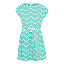 Buy John Lewis Girls' Chevron Dress, Soft Green Online at johnlewis.com
