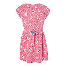 Buy John Lewis Girls' Floral Lead In Dress, Bubblegum Online at johnlewis.com