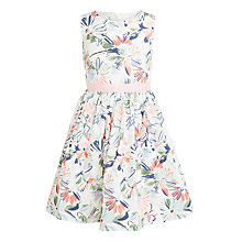 Buy John Lewis Girls' Sketchy Flower Prom Dress, Gardenia Online at johnlewis.com
