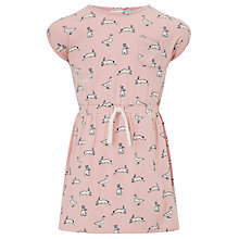 Buy John Lewis Girls' Rabbit Geese Print Dress, Powder Pink Online at johnlewis.com