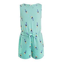 Buy John Lewis Girls' Toucan Jersey Playsuit, Turquoise Online at johnlewis.com