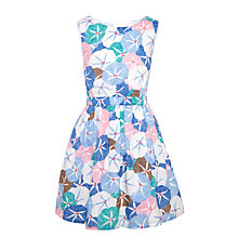 Buy John Lewis Girls' Floral Woven Sun Dress, Blue Online at johnlewis.com