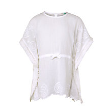 Buy John Lewis Girls' Cheesecloth Kaftan, Bright White Online at johnlewis.com