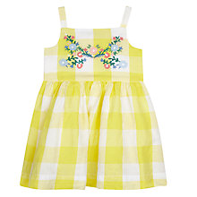 Buy John Lewis Baby Checked Dress, Yellow Online at johnlewis.com