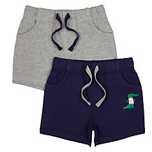 Buy John Lewis Baby Crocodile Shorts, Pack of 2, Navy/Grey Online at johnlewis.com