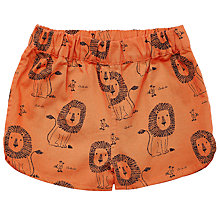 Buy John Lewis Baby Cuba Lion Shorts, Orange Online at johnlewis.com