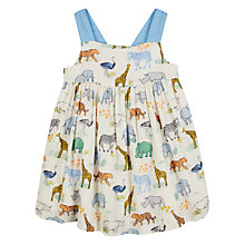 Buy John Lewis Baby Organic Cotton Cuba Animal Dress, Multi Online at johnlewis.com