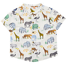 Buy John Lewis Baby Cuba Animal Shirt, White Online at johnlewis.com