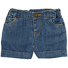 Buy John Lewis Baby Denim Shorts, Blue Online at johnlewis.com