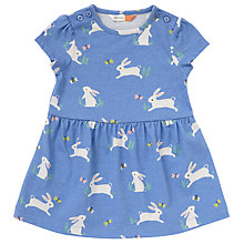Buy John Lewis Baby Bunny Dress, Blue Online at johnlewis.com