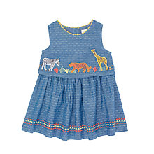 Buy John Lewis Baby Cuba Animal Chambray Dress, Blue Online at johnlewis.com