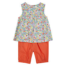 Buy John Lewis Baby Floral Top and Shorts Set, Multi/Orange Online at johnlewis.com