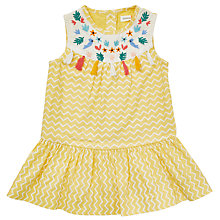Buy John Lewis Baby Cuba Tassel Dress, Yellow Online at johnlewis.com