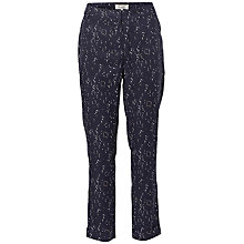 Buy Selected Femme Gaila Printed Trousers, Dark Sapphire Online at johnlewis.com