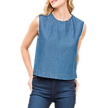Buy Lee Sleeveless Denim Top, Washed Blue Online at johnlewis.com