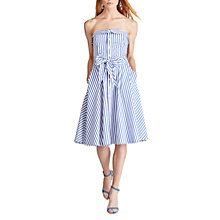Buy Polo Ralph Lauren Bengal Stripe Cotton Dress, White/Regatta Online at johnlewis.com