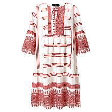 Buy Weekend MaxMara Floria Cotton Silk Dress, Red/White Online at johnlewis.com