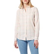 Buy Lee One Pocket Check Shirt, Pale Pink Online at johnlewis.com