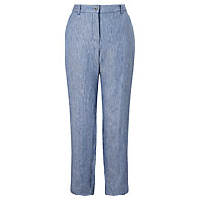 Buy Weekend MaxMara Bliblios Stripe Linen Trousers, Avio Online at johnlewis.com