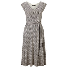 Buy Weekend MaxMara Bu Jersey Dress, Dark Brown Online at johnlewis.com
