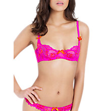 Buy L'Agent by Agent Provocateur Cara Demi Underwired Bra, Pink/Orange Online at johnlewis.com