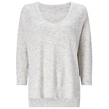 Buy Phase Eight Rosabelle Mix Stitch Jumper, Silver Online at johnlewis.com
