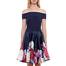 Buy Ted Baker Nersi Blushing Bouquet Bardot Dress, Navy Online at johnlewis.com