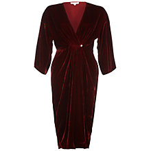 Buy Ghost Jess Velvet Dress, Russet Online at johnlewis.com