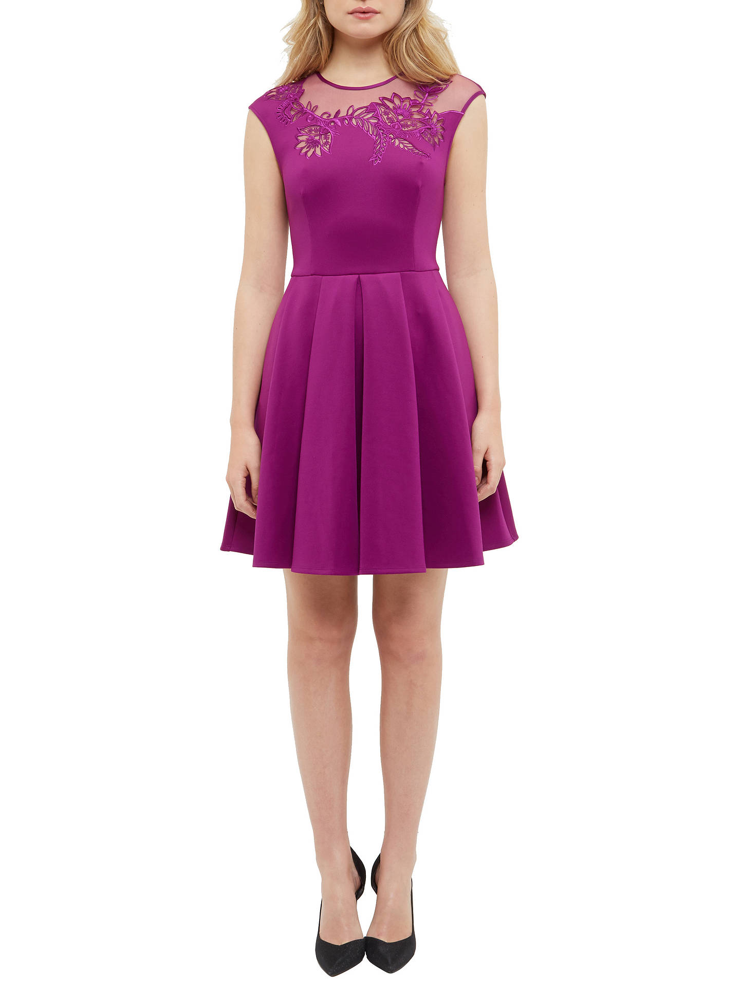 8cabf55a9030f4 ... Buy Ted Baker Dollii Embroidered Mesh Detail Skater Dress