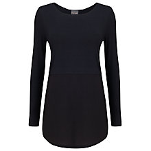 Buy Phase Eight Sophia Split Hem Top, Charcoal Online at johnlewis.com