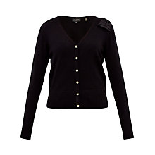Buy Ted Baker Bevie Bow Shoulder Cardigan, Black Online at johnlewis.com