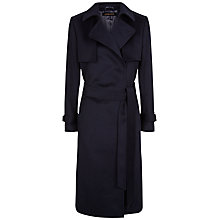 Buy Jaeger Wool Trench Coat, Navy Online at johnlewis.com