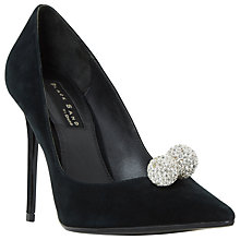 Buy Dune Black Sand Buckinghamm Crystal Ball Court Shoes, Black Online at johnlewis.com
