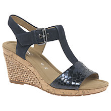 Buy Gabor Karen Wide Fit Wedge Heeled Sandals, Ocean Online at johnlewis.com
