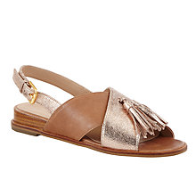 Buy John Lewis Liv Cross Strap Tassel Sandals Online at johnlewis.com