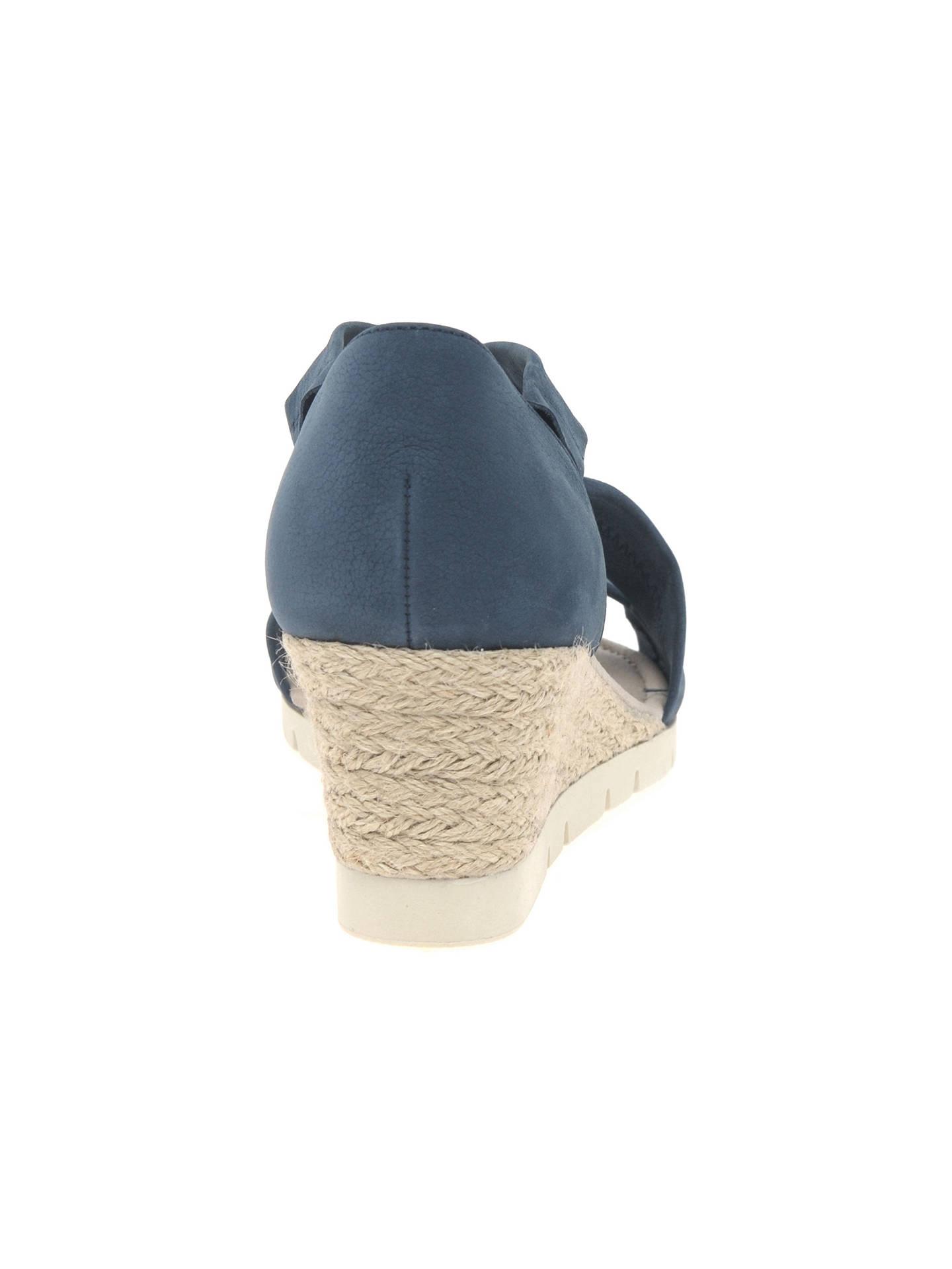 166c5557e27 Gabor Lisette Wide Fit Cross Strap Sandals at John Lewis   Partners